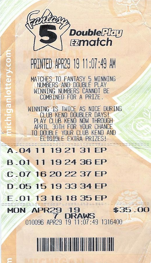 Michigan Lottery ticket