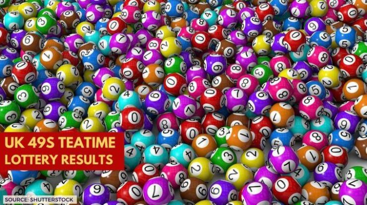 The UK Teatime lottery results
