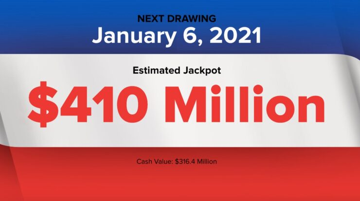 The Powerball results for $410 millions jackpot on 6th Jan,2021