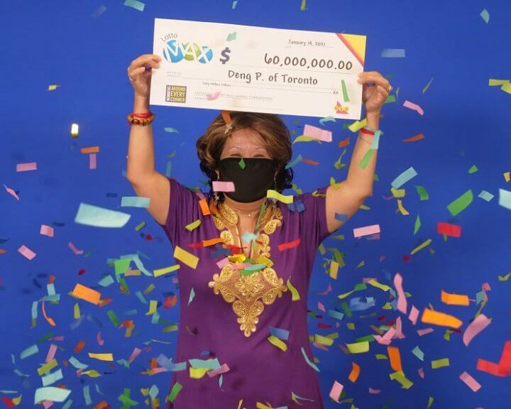 """Toronto woman wins $60 millions worth Lotto Max for which winning numbers came to husband in """"dream"""""""