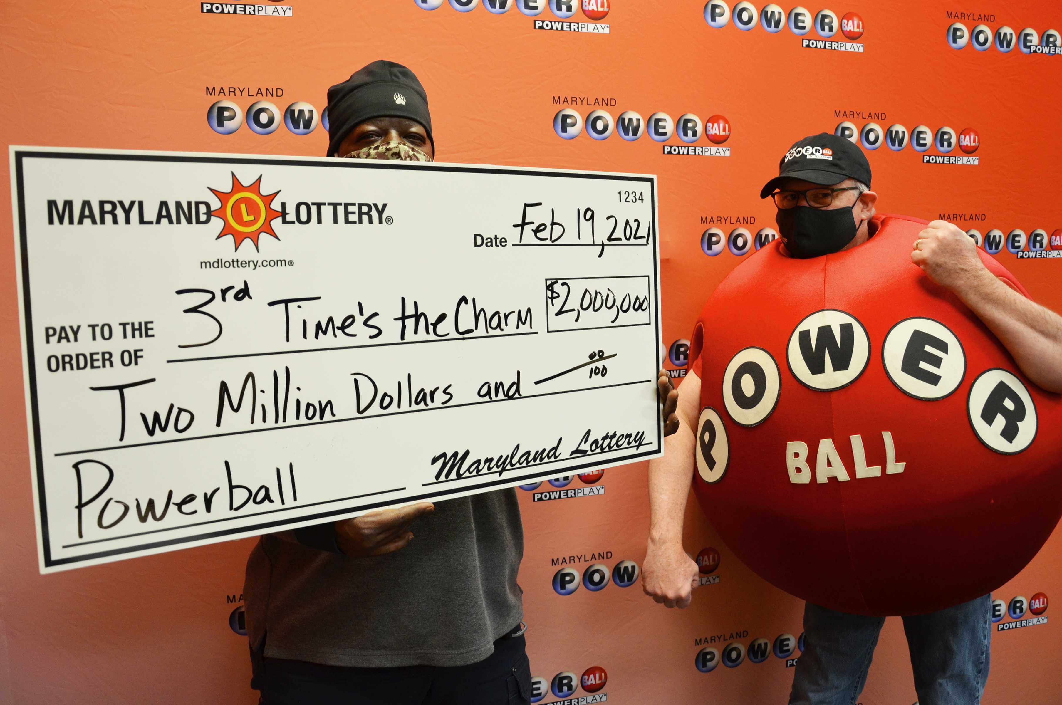 "Pittsburgher's man trips to claim the $2M Powerball prize as ""third time's the charm"""