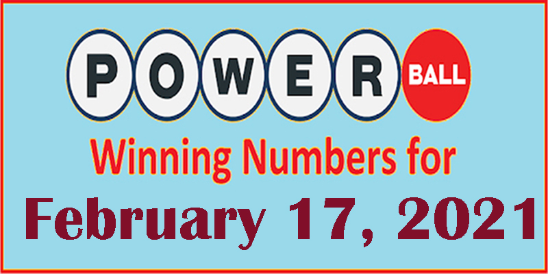 Powerball Winning Numbers for Feb 17, 2021
