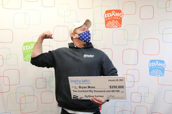 Bryan Moss won $250,000 on the Idaho Lottery Scratch Game $250,000 Crossword Thursday. Idaho Lottery