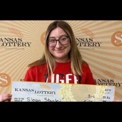 A 18 year teenage from Kansas wins $25,000 on her first lottery ticket purchase