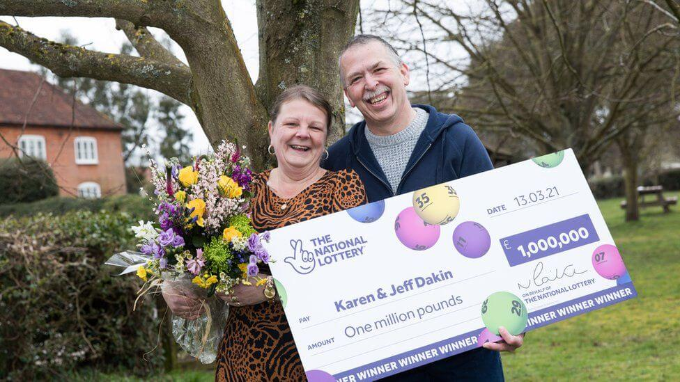 A school dinner lady won £1m national lottery in tough times