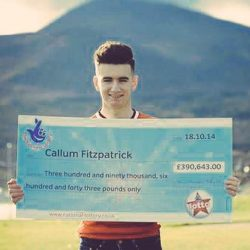 Callum Fitzpatrick was just 16 when he won the lottery